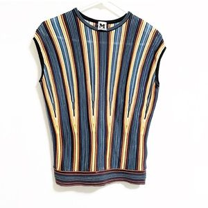 Missoni. Cap sleeve elongated chevron print